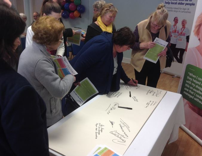 Older peopleÂ's charity Age UK Lancashire officially launched their new Charter for Later Life at a special event yesterday. Held at their Wellbeing Resource Centre in Ormskirk, over 80 people attended, including local older people, councillors, partner organisations and special guests Rosie Cooper...