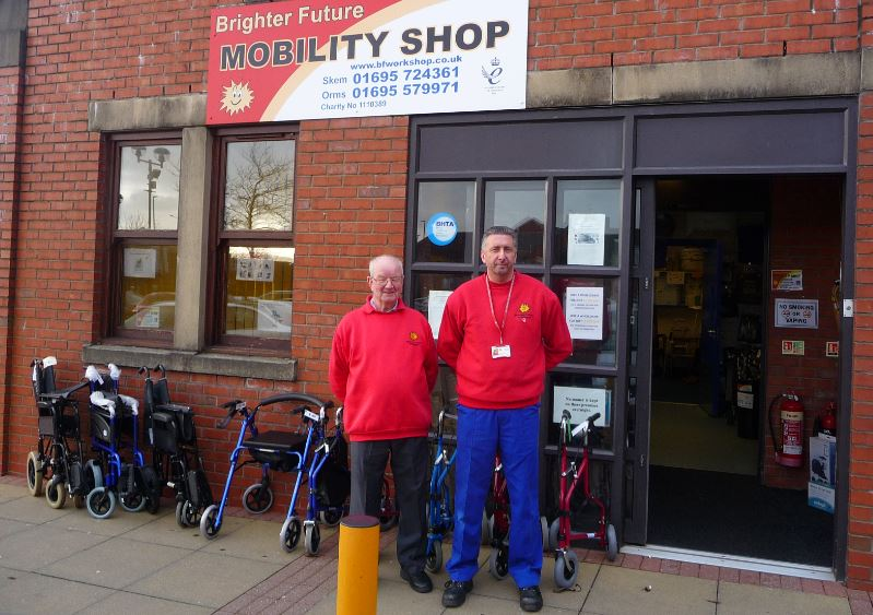 Ormskirk's Brighter Future Workshop is asking local residents to donate mobility equipment they may have lying around their homes that are no longer used.     Based in Greenhey Place, Skelmersdale, the award winning charity and social enterprise has a thriving outlet at Ormskirk's Two Saints Retail...