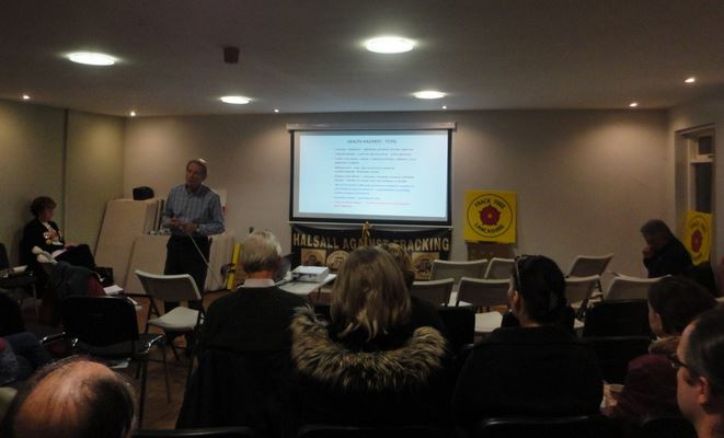Halsall Against Fracking (HAF) held a meeting -