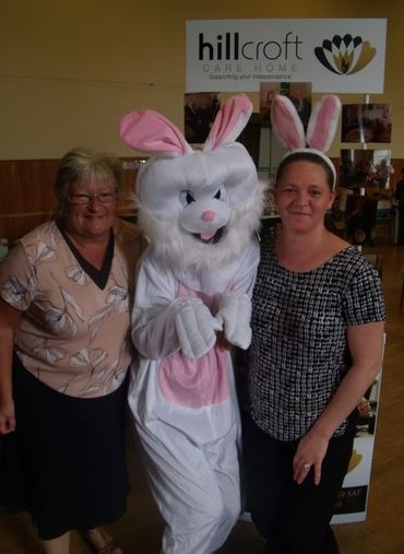 Report and photos by Megan Campbell        Staff from AughtonÂ's Hillcroft Residential Care Home ran a successful Grand Easter Fair at The Civic on Thursday. It was raising funds for a number of new resources and to fund a new water feature which will enhance its warm, homely atmosphere.     The day...