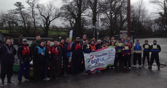 Age UK's foot care manager from Ormskirk, Louise Reynolds, spent a very wet and windy day last weekend as one of 32 brave participants who took to the Lancaster canal for the Age UK Lancashire Canoe Challenge.    The event was raising money to support vulnerable older people across Lancashire, as...