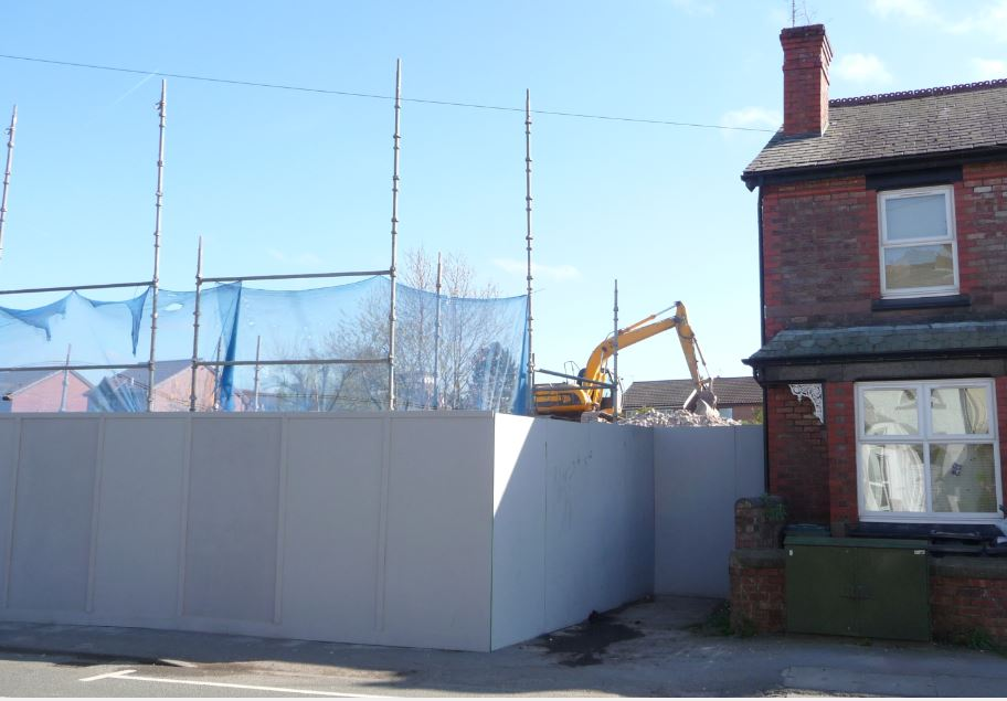 This is what's left of a once thriving community pub on Wigan Road.