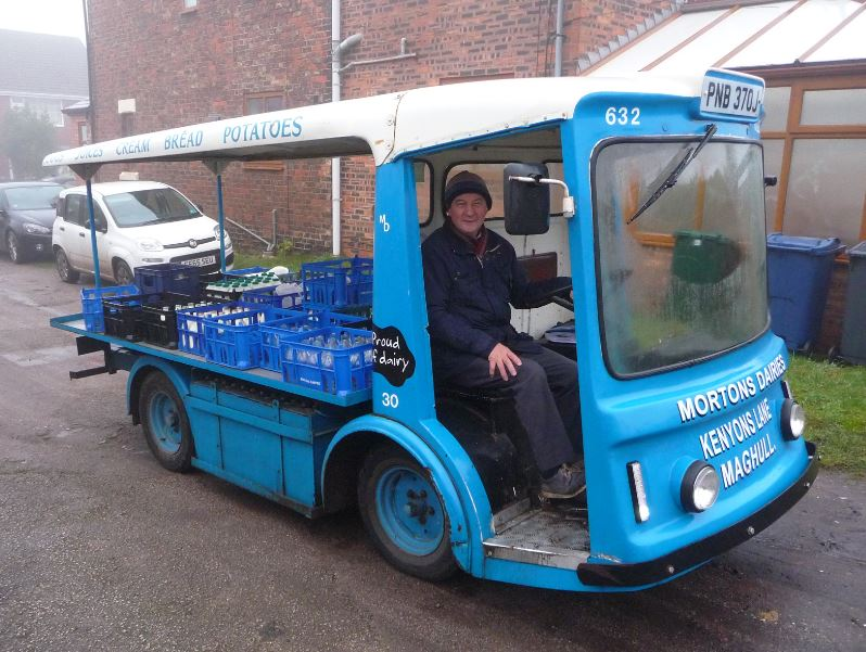 It's not that often you meet a Beatle's celebrity in Ormskirk - even a very minor one.    But Roger Blaxall - on his way to investigate a possible feature at Cottage Lane Mission - met one on Saturday last ... in his milk float.    Chirpy Norman Bowyer belies his 75 years and has been working as a...