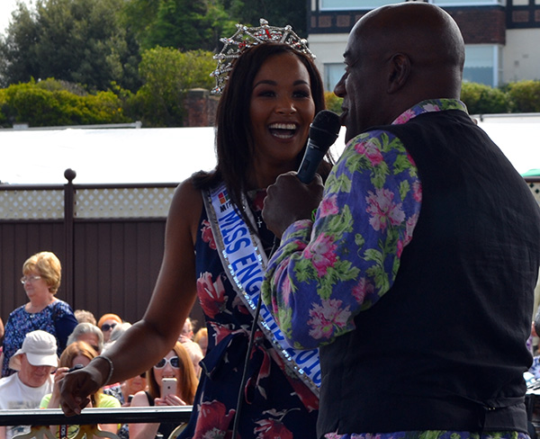 The theme for this years Southport Flower Show is the Mediterranean and the weather was in keeping with that. Celebrity chef Ainsley Harriott opened the show with the newly crowned Miss England Liz Grant.                Local gardeners Alan Foxall and Steve Johnson won another Gold Medal this year...