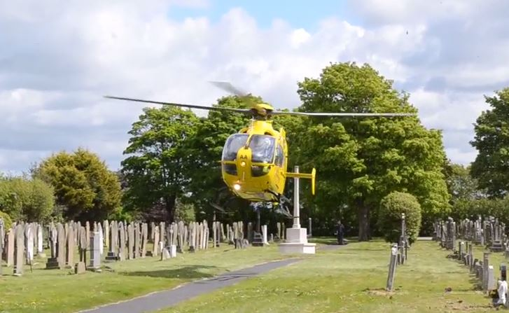 The North West Air Ambulance was called to Southport today following an accident in Portland St.The male casualty was transferred from the land ambulance into the waiting Air Ambulance and transported to Preston hospital for treatment.        The Air Ambulance made a dramatic landing in between the...