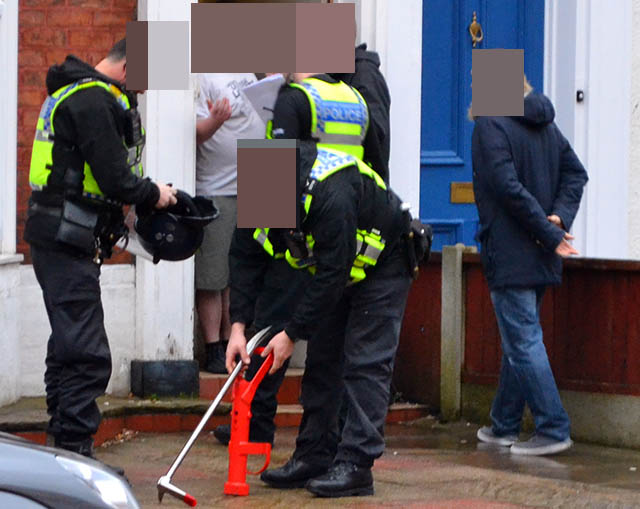 Police officers equipped with battering rams and dogs raided a property on Union Street, Southport this morning.    The occupant opened the door before any force was used. Officers had a warrant to search the property and are still on scene. Update from press office later.