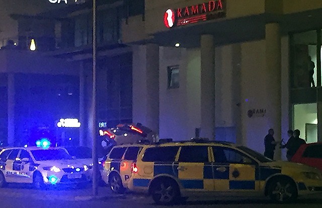 Scores of Police some with dogs along with the Ambulance service were called to the Ramada Hotel on the Promenade at approximately 12.05 am today (17th June) after trouble broke out at wedding reception.        Merseyside Police can confirm that we attended reports of disorder at a Southport hotel...