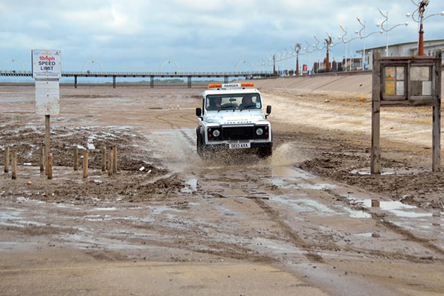 With the summer season fast approaching this was the scene on Southport Beach today.The beach is now nothing more than a muddy swamp.Golden sands no longer exist.         Welcome to