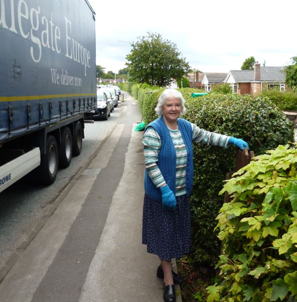 A sprightly Ormskirk pensioner is giving townsfolk a lesson in civic pride - at the age of 79.    QLocal's Roger Blaxall caught up with Norma Gibbons as she trimmed the hedges on County Road just a stonesthrow from her Southport road house.    Locals will see her out regularly making sure the hedge...