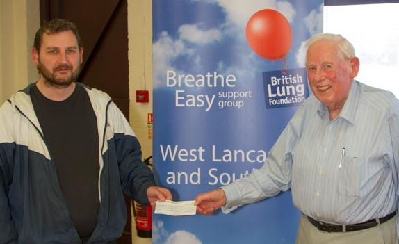 A moving presentation took place at July's Breathe Easy meeting in Ormskirk recently.    Mr. Alan Johnson of Skelmersdale presented a cheque to the West Lancashire and Southport group for £1118.88, on behalf of late member, Tricia Kelley of Upholland.     Tricia suffered from Alpha 1-antitrypsin...