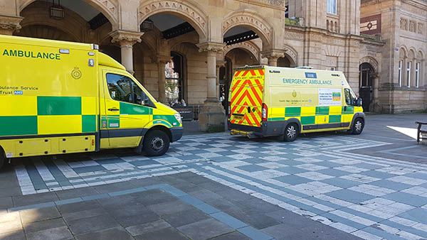 The North West Ambulance service have had a busy time in Southport town centre today.    Two Ambulances were called to The Atkinson after an elderly lady was taken seriously ill inside the building.    Another Ambulance was called to West Street after an elderly man who was on a coach trip from...