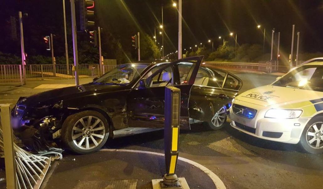 A 24 year old man from Southport was one of two people arrested after a stolen BMW was boxed in on the East Lancs Road by Police.    The driver of the vehicle hit a Police Car and damaged street furniture in a bid to make an escape.    Both men were arrested on suspicion of burglary dwelling and...
