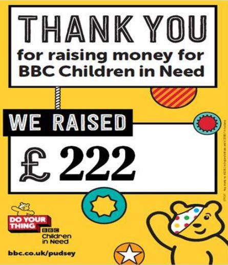 Well done to the Southport College English Department who raised an incredible £222 for BBC Children in Need from their cake sale, raffle & tombola last week!