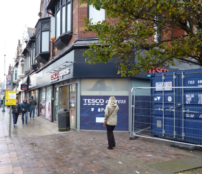 There's been some minor inconvenience for Tesco shoppers at its Eastbank St. Express store that's being 'fire proofed' according to one of its managers.    It's seen alterations to the store layout as contractors work on their interior roof space.