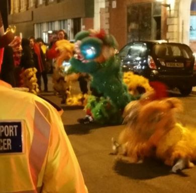 Officers were out this in Southport Town Centre enjoying the Chinese New Year celebrations with staff and Customers at the New China City Restaurant, King Street.  Temporary road closures were in place whilst the Dragons were in town. The entertainment was enjoyed by all.