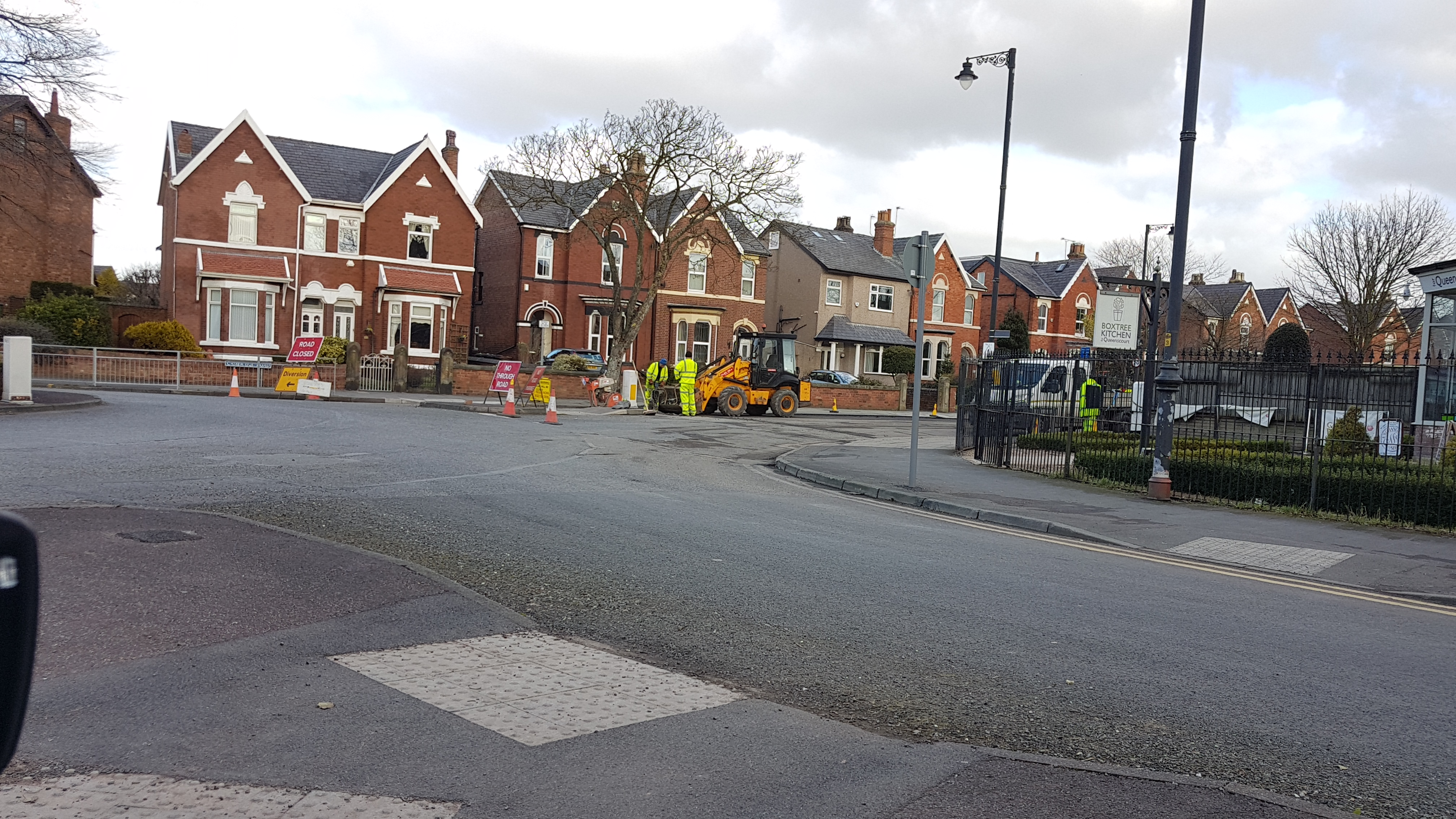 Large queues of traffic built up in Churchtown today as Cambridge Road was resurfaced again after the last works failed.    Thousands of pounds has been spent over the last few years in the area resurfacing the roads none of which appears to have worked.    Local diversions are in operation.
