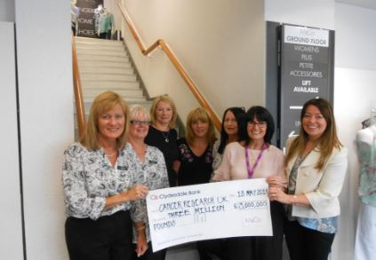 ASHINGTON HELPS RAISE £3 MILLION FOR CANCER RESEARCH UK    Staff and customers at the M&Co Ashington store have contributed a fantastic £14,601 towards M&CoÂ's National Charity Partner of 10 years, Cancer Research UK.   The money has been raised by a series of fundraising initiatives in the...