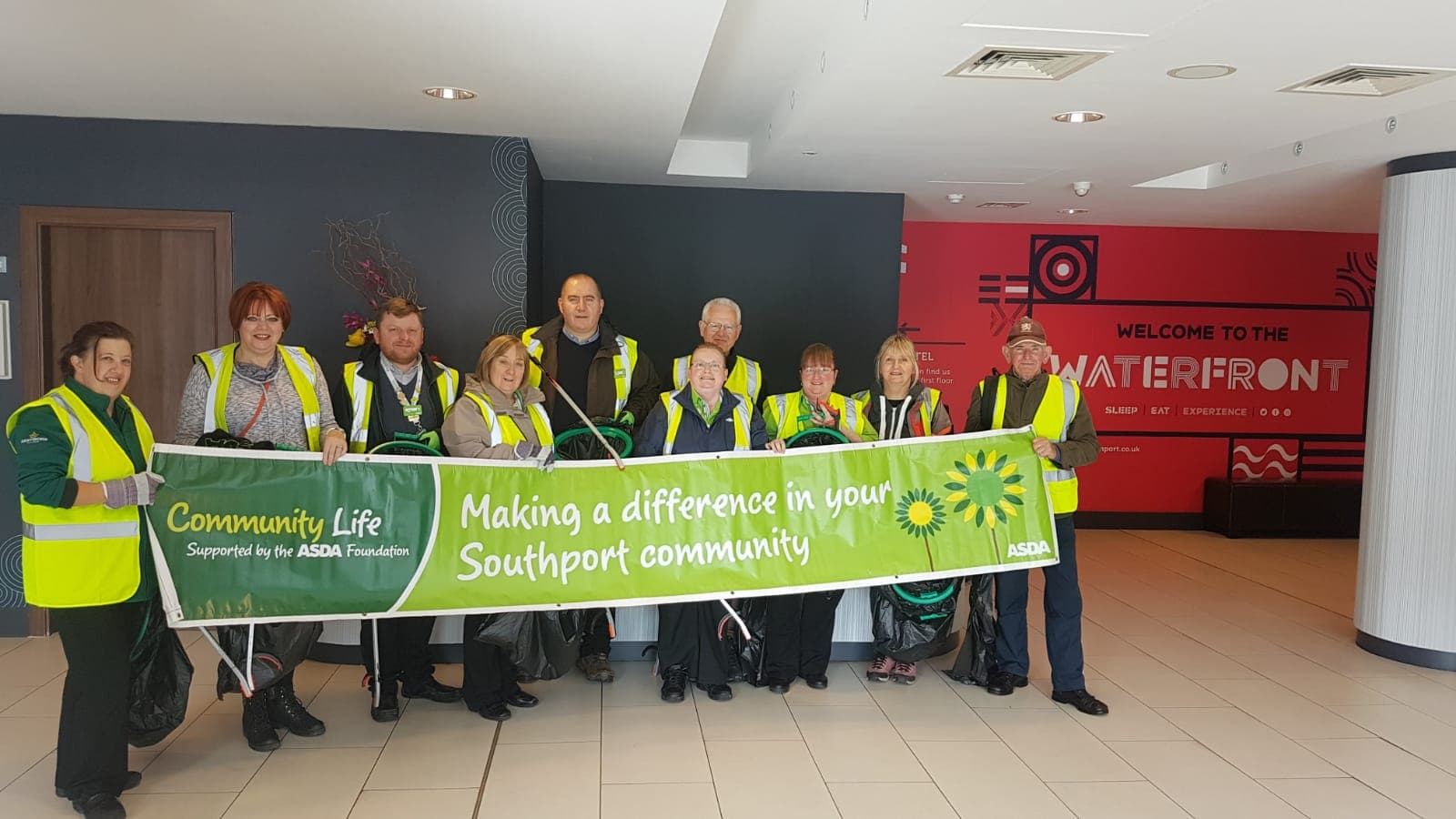 On Wednesday 12th September ASDA Southport joined forces with Lord Street in Bloom volunteers to clear rubbish from Marine lake and under Southport pier we collected 30 bags of rubbish.    Each ASDA store held their own litter pick on the same day to make a difference in our communities with store...