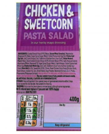 Asda Recalls Its Chicken Sweetcorn Pasta Salad Due To The Presence