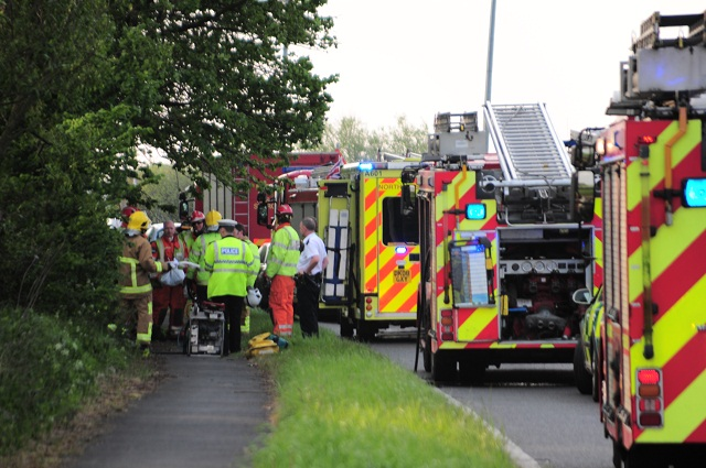 The emergency services were called to Ince Road in Ince Blundell at around 11am following reports of a three vehicle road traffic accident.         A spokesman for the ambulance service said they have taken five people to hospital. Two of the people were taken to Aintree hospital with suspected...