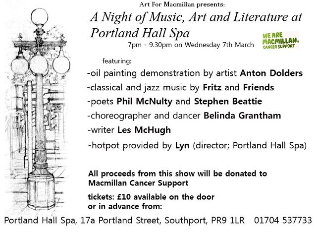 A night of music art and literature at portland hall spa for A list salon portland